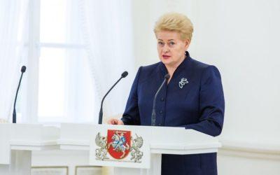 LR Prezidentė Dalios Grybauskaitės pranešimas Jungtinių Tautų Generalinėje Asamblėjoje
