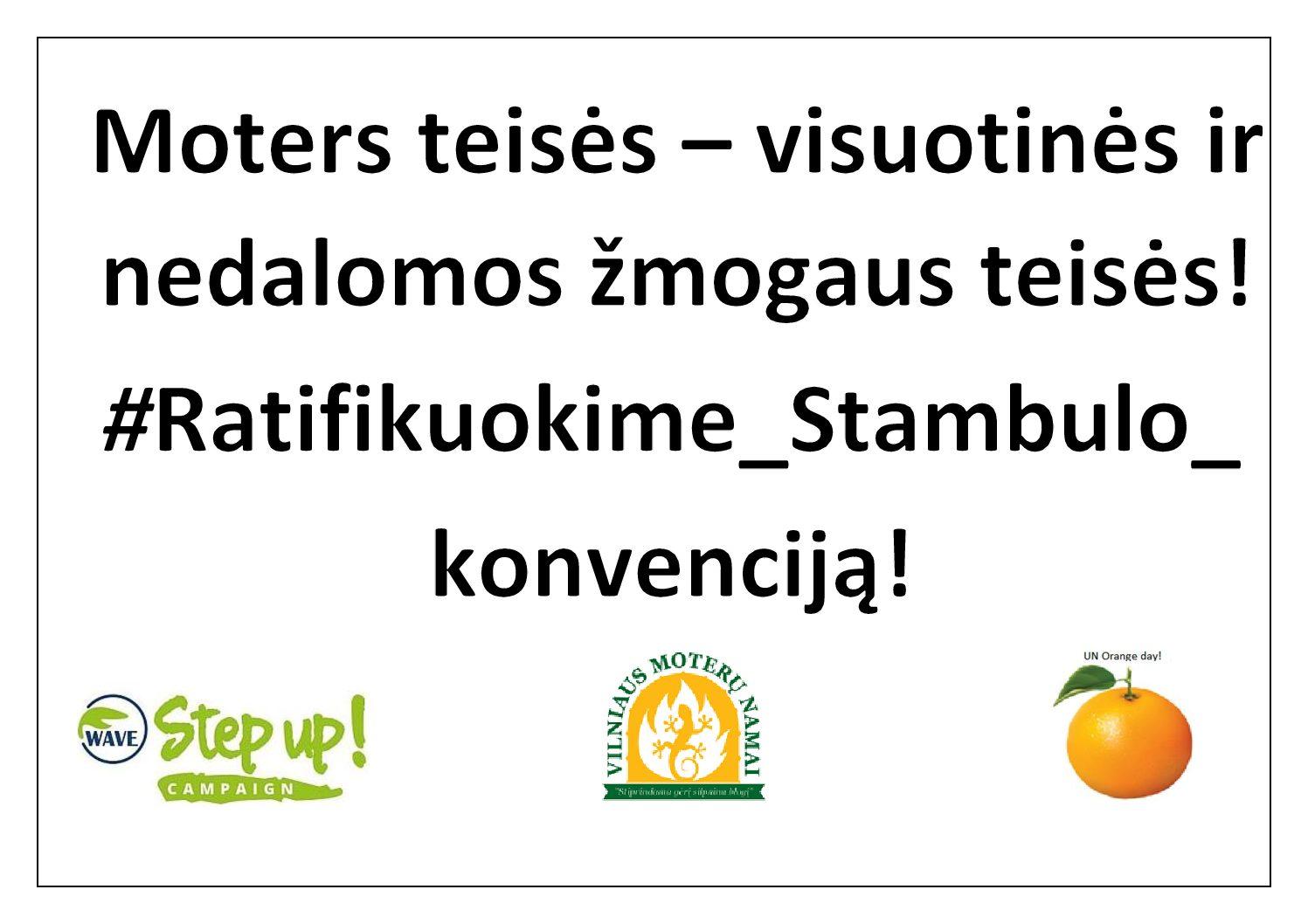 Pokalbis – kodėl Lietuvai reikalingas Stambulo konvencijos ratifikavimas.