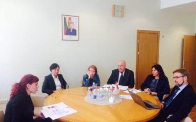 NVO koalicijos Moters teisės – visuotinės žmogaus teisės narių susitikimas su SADM Ministru Linu Kukuraičiu