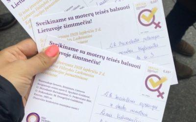 100 metų kuomet Lietuvos moterys įgavo teisę balsuoti!