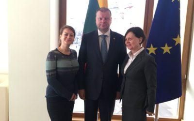 Dalyvavome susitikime su LR Ministru Pirmininku Sauliumi Skverneliu