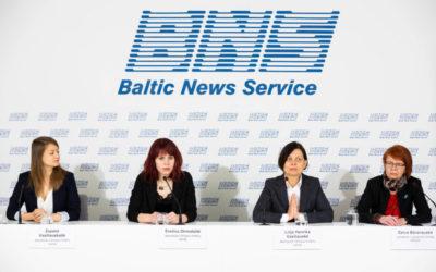 """2019 metų kovo 25 dieną, įvyko asociacijos Vilniaus Moterų namai ir Labdaros ir paramos fondo """"FRIDA"""" spaudos konferencija"""