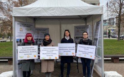 2019 m. spalio 25 d. įvyko Step Up kampanija! Stabdykime smurtą prieš moteris! Ratifikuokime Stambulo konvenciją!